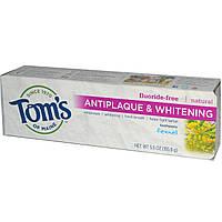 Tom's of Maine, Натуральная отбеливающая зубная паста против налета, без фтора, с фенхелем, 5.5 унций (155.9 г)