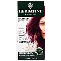 Herbatint, Flash Fashion, травяная гель-краска для перманентного окрашивания волос, ФФ 3, сливовый, 135 мл