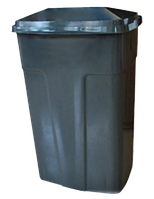Бак мусорный 90л Зелено-серый