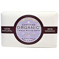 Pure Provence Organic, Сертифицированное органическое тройное пилированное мыло, лаванда, 5,3 унции (150 г)