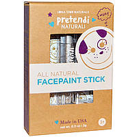Luna Star Naturals, Pretendi Naturali, All Natural Facepaint Stick, Silver, 0.11 oz (3 g)
