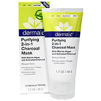 Derma E, Очищающая маска с активированным углем 2 в 1, 1,7 унции (48 г)