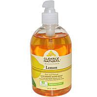 Clearly Natural, Essentials, глицериновое мыло, лимон 12 жидких унции (354 мл)
