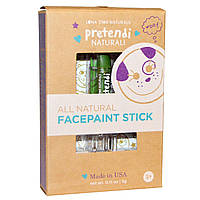 Luna Star Naturals, Pretendi Naturali, All Natural Facepaint Stick, Green, 0.11 oz (3 g)