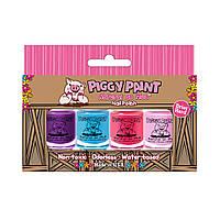 """Piggy Paint, """"Натуральный, как грязь"""", лак для ногтей, набор из 4 флаконов по 3,5 мл"""