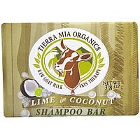 Tierra Mia Organics, Терапия для кожи с необработанным козьим молоком, шампунь, лайм в кокосе, 3,8 унции
