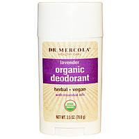 Dr. Mercola, Органический дезодорант стик, Лаванда, 2.5 унции (70.8 г)