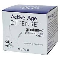 Earth Science, Ginsium-C, Отбеливающий Крем для Кожи, Активная Защита от Старения, 1.7 унции (50 г)