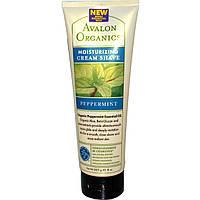Avalon Organics, Увлажняющий крем для бритья с перечной мятой, 8 унций (227 г)