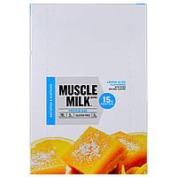 Cytosport, Inc, Muscle Milk, Protein Bar, Lemon Bliss Flavored, 12 Bars, 1.76 oz (50 g)