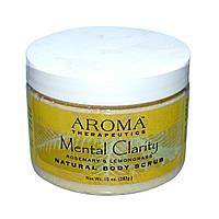 Abra Therapeutics, Натуральный скраб для тела, ясный ум, розмарин и лимонник, 283 г