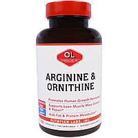 Olympian Labs Inc., Аргинин и орнитин, 100 капсул