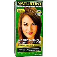 Naturtint, Перманентная краска для волос, 6N, светло-русый, 5.98 жидких унций (170 мл)
