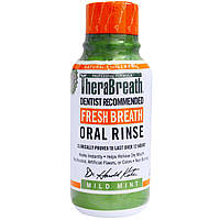 TheraBreath, Ополаскиватель для рта Fresh Breath, мягкий вкус мяты, 3 жидких унции (88,7 мл)