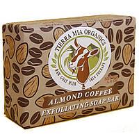 Tierra Mia Organics, Лечебное средство из чистого козьего молока, отшелушивающее мыло, миндаль и кофе, 3,8 унции