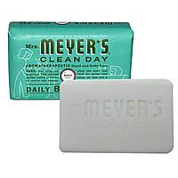Mrs. Meyers Clean Day, Кусковое мыло для ежедневного использования, аромат базилика, 150 г (5,3 унции)