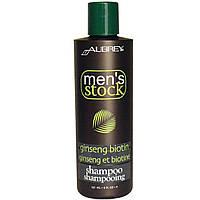 Aubrey Organics, Men's Stock, Шампунь, биотин и женьшень, 8 жидких унций (237 мл)