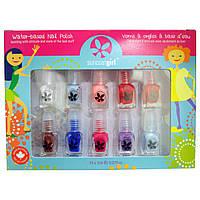 SuncoatGirl, Набор лаков для ногтей на водной основе, Flare & Fancy, 10 штук