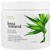 InstaNatural, Маска с грязью Мертвого моря с добавлением масла ши, для лица и тела, 19 унций (560 мл)