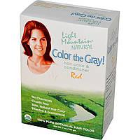Light Mountain, Закрась седину! органический натуральный краситель и кондиционер для волос, рыжий, 198 г