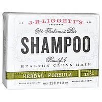 J.R. Liggett's, Традиционный твердый шампунь, травяная формула, 3,5 унции (99 г)