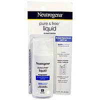 Neutrogena, Чистый и свободный жидкий солнцезащитный крем, фактор защиты от солнца SPF 50, 1,4 жидк. унц. (40 мл)