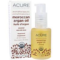 Acure, Активное смягчение, кокос и аргановое масло, 1 ж. унц. (30 мл)