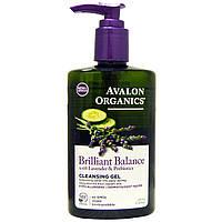 Avalon Organics, Гель для умывания с лавандой и пребиотиками Brilliant Balance, 8 жидких унций (237 мл)