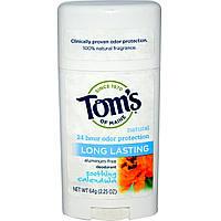 Tom's of Maine, Натуральный дезодорант длительного действия, успокаивающая календула, 2.25 унций (64 г)