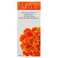 Ecco Bella, Органическая сыворотка для ухода за лицом, восстанавливающая, 15 мл (0,5 жидкой унции)