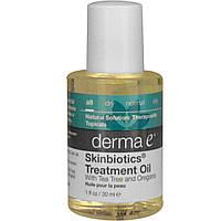 Derma E, Лечбное масло Skinbiotics, с чайным деревом и орегано, 1 жидк. унц. (30 мл)