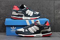 Мужские кроссовки Adidas zx750, темно-синие с серым