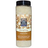 One with Nature, 100% натуральная соль Мертвого моря для ванн, ваниль, 907 г (32 унции)