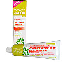 Jason Natural, PowerSmile, Отбеливающий ферментный гель с перечной мятой, 4,2 унции (119 г)