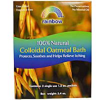 Rainbow Research, 100%-ная натуральная коллоидная ванна из овсяных хлопьев, 3 пакета, по 1,5 унции каждый