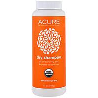 Acure Organics, Органический сухой шампунь, темно-каштановый оттенок, 1,7 унции (48 г)