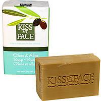 Kiss My Face, Мыло с оливковым маслом и алоэ, 8 унций (230 г)