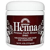 Rainbow Research, Хна, краска и кондиционер для волос, темно-каштановый (соболь), 113 г (4 унции)