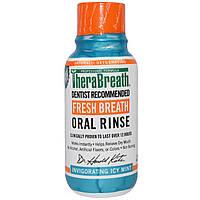 TheraBreath, Ополаскиватель для рта Fresh Breath, бодрящий вкус ледяной мяты, 3 жидких унции (88,7 мл)
