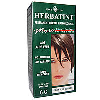 Herbatint, Стойкий растительный гель-краска для волос, 6C, темный пепельный блонд, 4,56 жидких унции (135 мл)