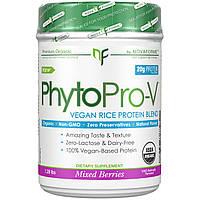 NovaForme, PhytoPro-V, сертифицированный USDA цельный органический премиальный веганский протеин из риса, смесь ягод, 1,28 фунта (580 г)