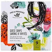 European Soaps, LLC, Мыло для гостей в ассорти, подарочная упаковка с 9 видами, 25 г каждый