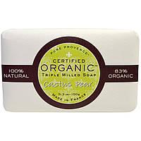 Pure Provence Organic, Сертифицированное органическое тройное пилированное мыло, кактус и груша, 5,3 унции (150 г)