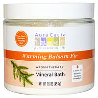 Aura Cacia, Ароматерапевтическое минеральное средство для ванны, согревающая бальзамическая пихта, 16 унций (454 г)