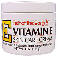 Fruit of the Earth, Витамин E, крем по уходу за кожей, 4 унции(113 г)