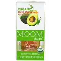 Moom, Органический набор для удаления волос, C авокадо, Для лица и бровей, 3 унции (85 г)