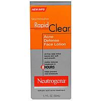 """Neutrogena, """"Быстрая чистка"""", лосьон для лица от прыщей, 1,7 жидкой унции (50 мл)"""
