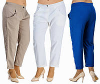Женские штаны - хулиганы с карманами. 3 цвета. Р-ры от 42-го до 54-го.