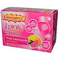 Emergen-C, Pink, 1000 мг витамина C, розовый лимонад, 30 пакетиков, по 9,9 г каждый