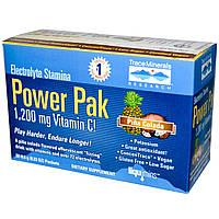 Trace Minerals Research, Электролитовая жизненная сила, Power Pak, пина колада, 32 пакета, по 0,23 унции (6,5 г)